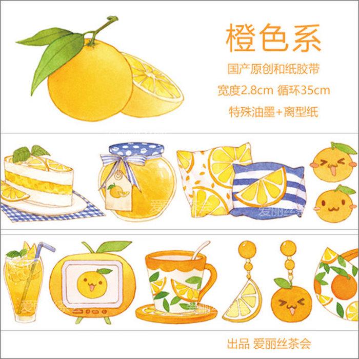 画像1: 【アリス茶会】橙色系(特殊油墨) (1)
