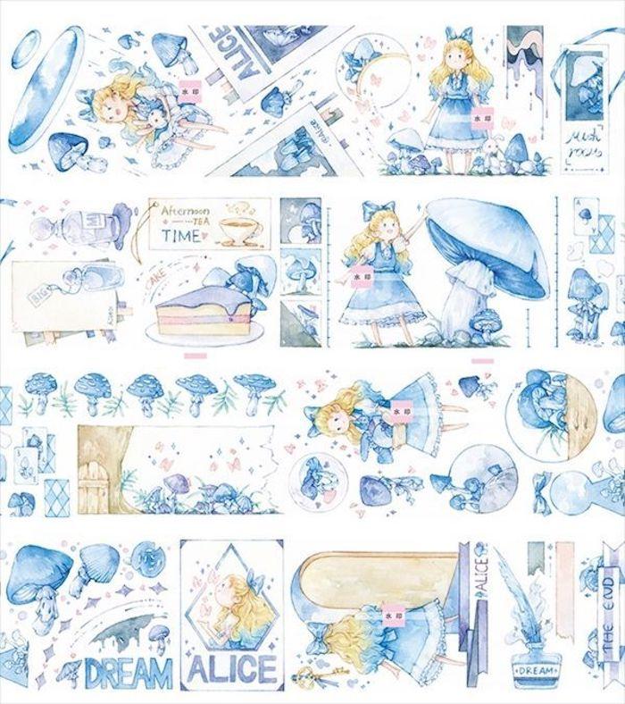 画像1: 【新七天】アリスと青キノコ(特殊油墨) (1)
